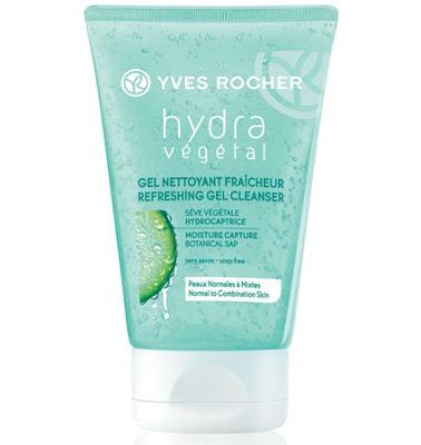 Odświeżający żel do mycia twarzy – Hydra Vegetal od Yves Rocher