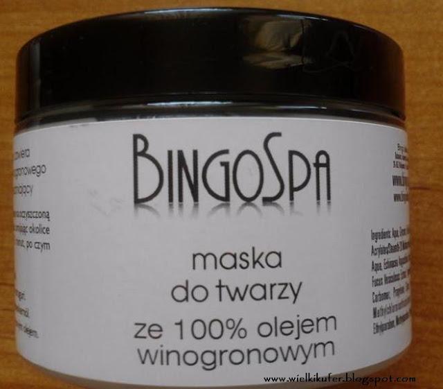 Przygotowania do Sylwestra z maską do twarzy ze 100% olejem winogronowym – Bingo Spa