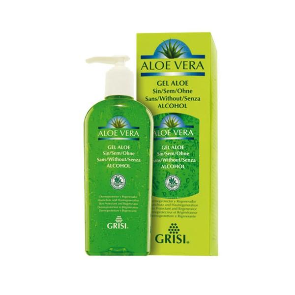 Żel z aloesu bez zawartości alkoholu Aloe Grisi – zawiera 99,7% czysty miąższ z Aloe Barbadensis
