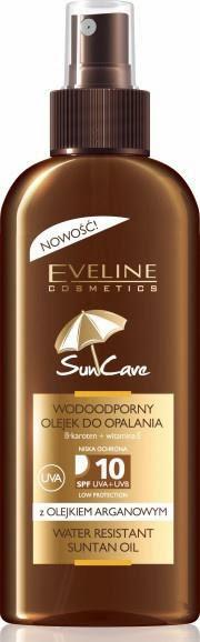 Wodoodporny olejek do opalania z olejkiem arganowym – SPF 10 – Eveline