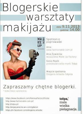 Blogerskie warsztaty makijażu z Make Up Factory i Tołpą