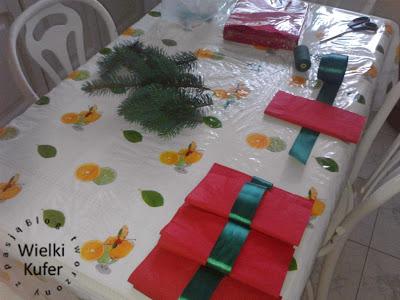 Ciekawa dekoracja Wigilijnego stołu