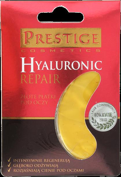 Złote hydrożelowe płatki pod oczy z kwasem hialuronowym Prestige – videorecenzja i analiza składu
