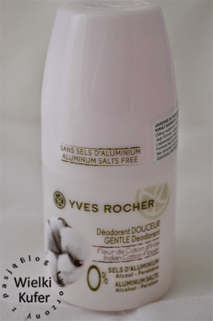 Dezodorant w kulce Kwiat bawełny z Indii Yves Rocher – dezodorant, nie antyperspirant!
