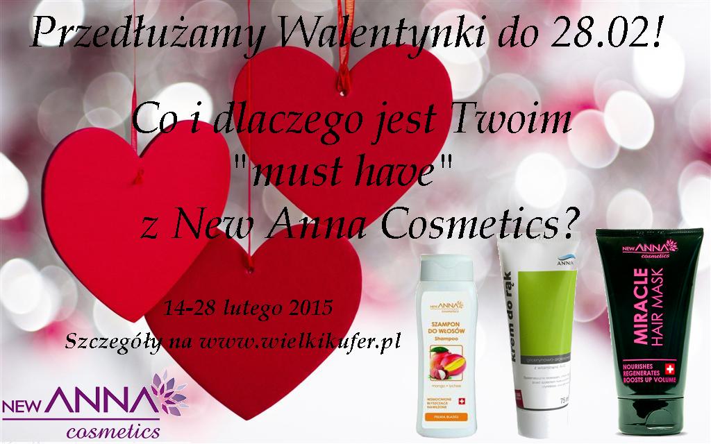 Przedłużamy Walentynki! Konkurs New Anna Cosmetics i Wielki Kufer, 14-28 lutego