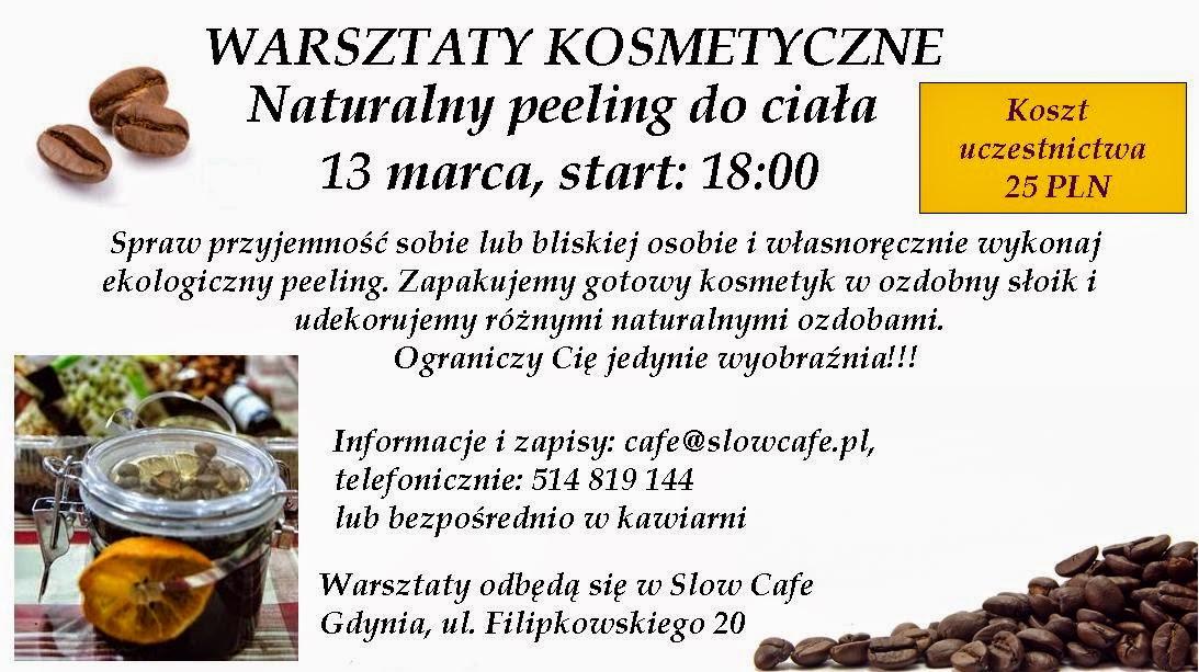 Warsztaty kosmetyczne w Gdyni! 13.03.2015 Slow Cafe