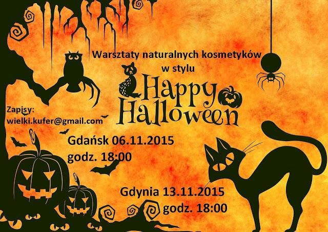Warsztaty kosmetyków  naturalnych- Happy Halloween – Gdańsk 6.11 i Gdynia 13.11