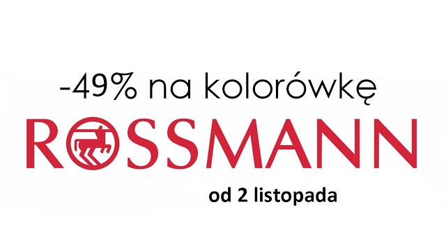 Rossmann – promocja – 49% – listopad 2015