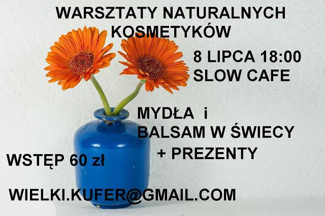 Lipcowe warsztaty naturalnych kosmetyków – balsam do ciała w formie świecy i mydła