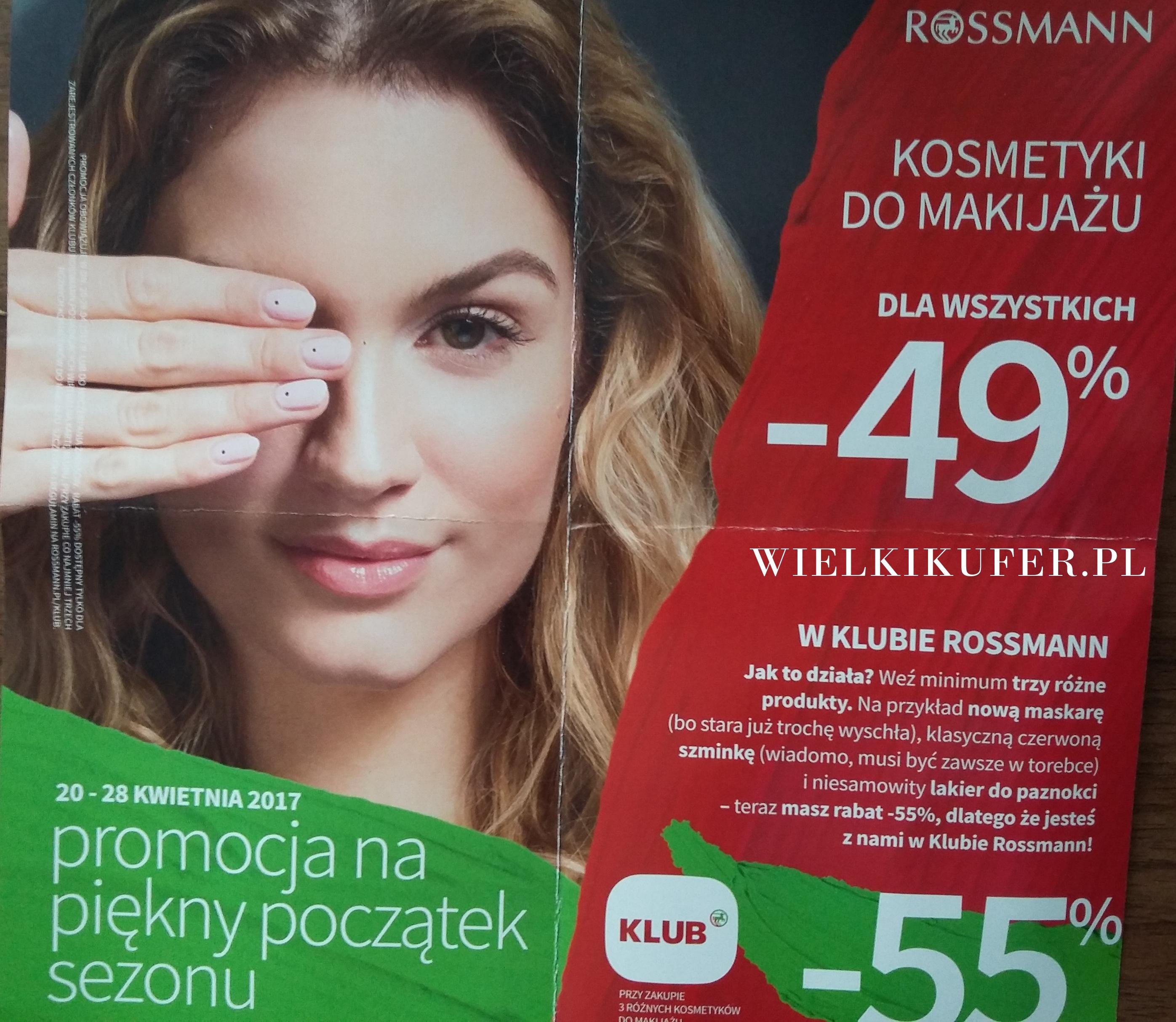 Rossmann  – promocja na kosmetyki do makijażu -49%, -55% – co warto kupić w dniach 20-28 kwietnia?