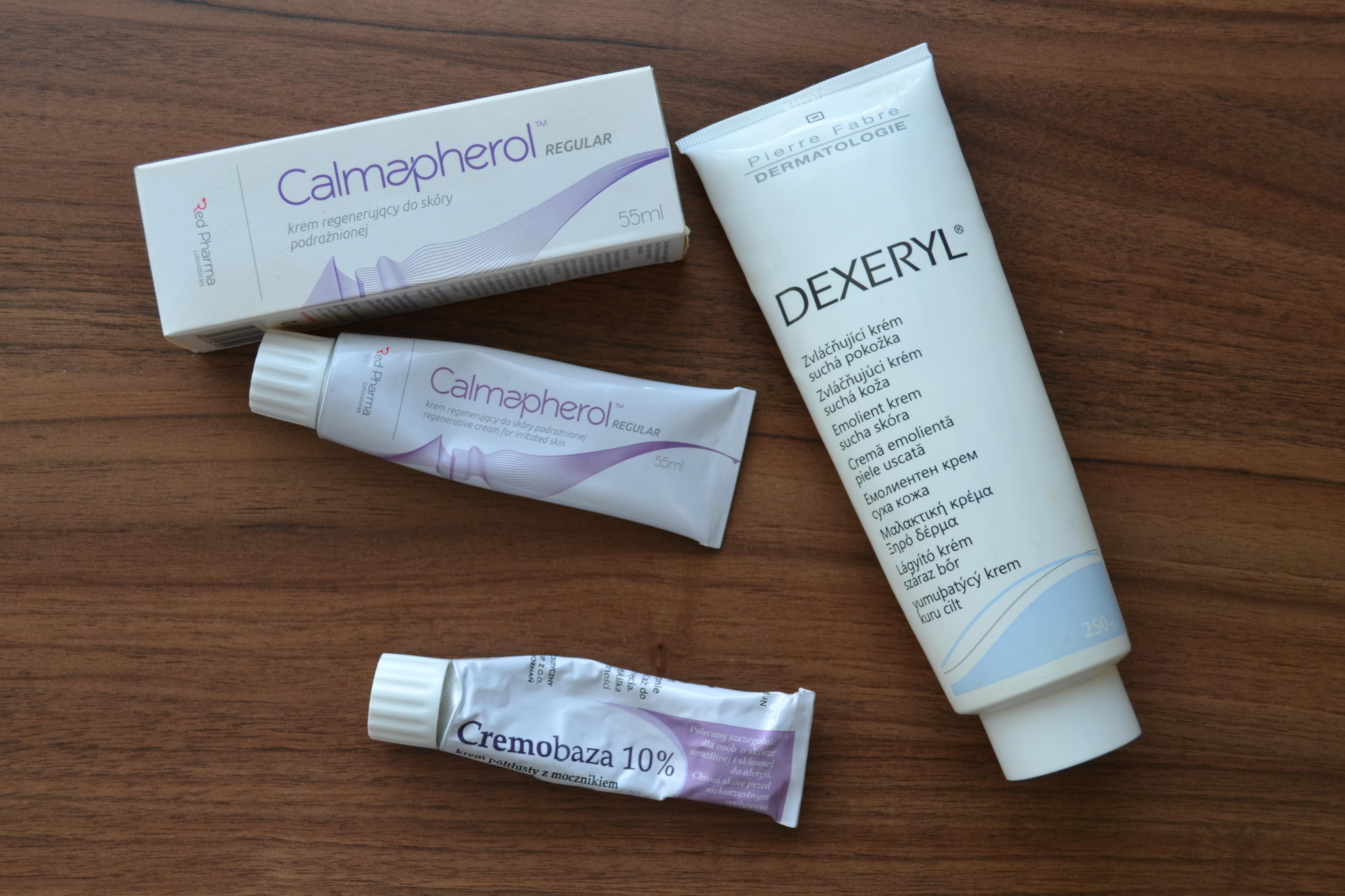 Alergia kontaktowa na kosmetyki – kremy apteczne do bardzo suchej skóry – Dexeryl, Cremobaza 10%, Calmapherol, Idravitae