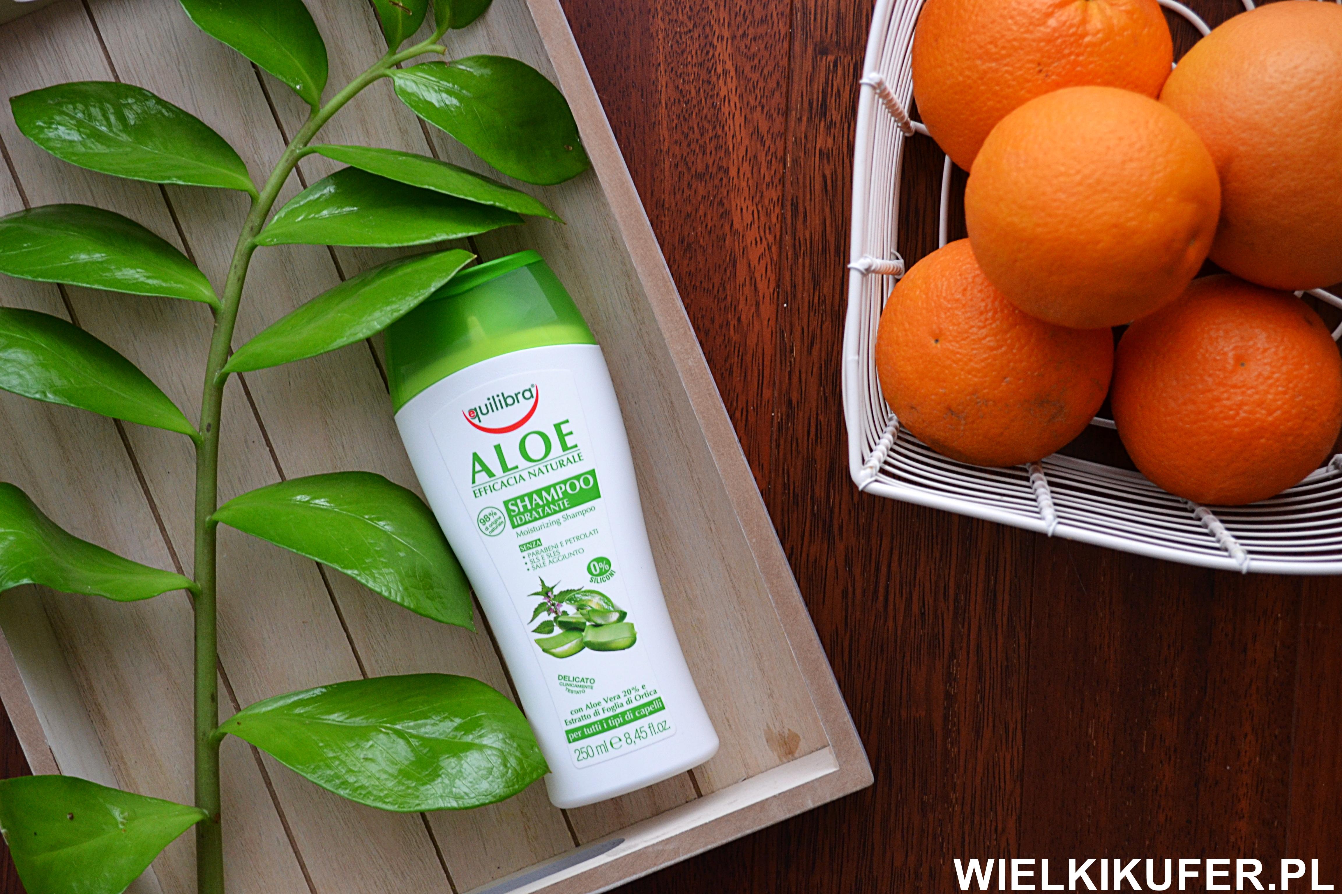 Nawilżający szampon aloesowy Equilibra – linia NATURALE