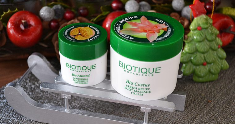 Kosmetyki inspirowane ajurwedą – szampon, mleczko do demakijażu, krem pod oczy i krem do stóp – Biotique